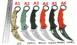 Wholesale best karambit FOX knife folding training hunting microtech c outdoor survival knife freeshipping
