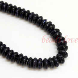 Wholesale 1Strand quot Natural stone quot Blue Sand quot Rondelle Beads mm mm w03026