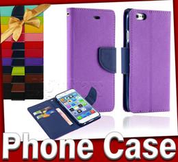 Pour S6 Affaire Iphone 6 Cases Mercury Portefeuille PU Leather Flip Case Avec Support Holder Carte Slot Pour iphone 5 5S 4 Samsung S5 S4 S3 Note 4 Note 3 à partir de mercure cas s4 fabricateur