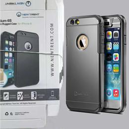 """Acheter en ligne Plaque d'écran-iPhone 6 Plus New Trent Trentium robuste de protection durable pour iPhone 6s Case 4.7 """"écran, Noir Argent plaques d'or avec le paquet de détail"""