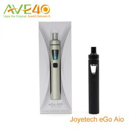 Wholesale Authentic Joyetech eGo AIO Starter Kits Joyetech eGo AIO Quick Start Kit ml Tank mAh eGo AIO Battery with eGO AIO Mouthpiece