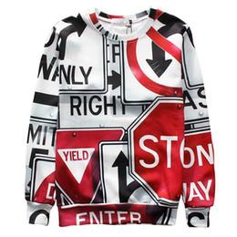 w1213 Raisevern 2015 new 3D sweatshirt geometric traffic signs print mens fashion 3d sweatshirt hoodie men women streetwear pullovers