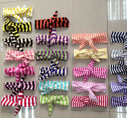 Wholesale RANDOM DELIVERY boutique knitted headband knit hair bands ONLY knotted baby amour headband top baby girl bow knot head bands