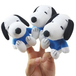 New Baby Plush Toy Cute Cartoon Dogs Finger Hand Puppet Kids Learning Education Toys Gift