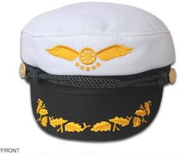 Navy Sailor Cap Captain Hat Black White Red Color For Men Women