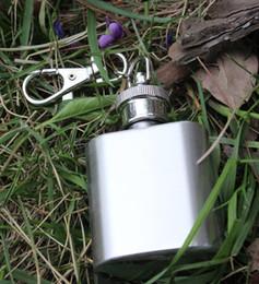2 015 1 once partie extérieure Keychain 1 oz Hip acier inoxydable Whisky alcools alcool Pocket Flacon, bouteille d'huile avec des chaînes clés E10M à partir de alcool trousseau fournisseurs