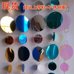 Wholesale Paillette anode screening gold and silver color paillette curtain wedding decoration cm