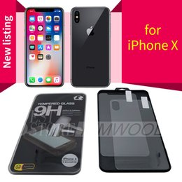 Tempered Glass Screen Protectors Front and Back For Iphone X Iphone 7 Plus Iphone 6S Plus 0.2MM 9H 2.5D Free DHL