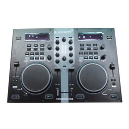 Wholesale BLACKNOTE DJ MIDI controller U disk controller computer to play players playing disc audio mixing console players sound mixer