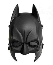 Wholesale Batman Mask Airsoft Cs Wargame Field Half Head Mask Protect Army Cosplay Mask gifts Black