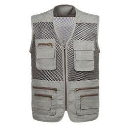 New Arrival! summer outdoor recreation mesh vest,quick-drying multi-pocket vest, V-neck photography vest 43