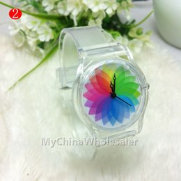 New Watch Transparent Band Case Fruit Printed Different Pattern Design Rubber Silicone Fashion Girls Boy Silicone Quartz Watches