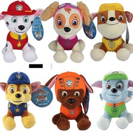 Wholesale New CM Patrol Plush Toys Children Kids Plush Dolls Poppy Dog Potrol Stuffed Animals Fireman Sam style Plush Toys EMS Shipping E704