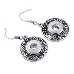 Wholesale 2016 hot antique silver Noosa Earrings women earring studs alloy chunk button snap mm DIY Interchangeable ear rings