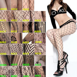 Wholesale New Arrivals Sexy Women Lady Fishnet Net Pattern Jacquard Pantyhose Tights Polyester Black FX121