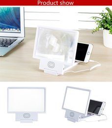 Wholesale Cell Phone D Screen Amplifier Magnifier Glasses Movie TV Enlarged screen Stand Holders For Apple Samsung Smart Phone With Retail Package