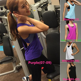 Wholesale New Arrivals Women s Lady s Sexy Tank Top Vest Sport T Shirt Spandex Quick Dry Backless Fitness Gym Active Size S L ED237 Free Shi