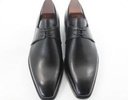 Men Dress shoes Men's shoes Custom handmade shoes Oxfords shoes Derby shoes Genuine calf leather color black HD-094