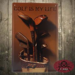 Wholesale Golf is my life art wall decor painting Tin Sign Bar pub home Wall Decor Retro Metal Art Poster cm