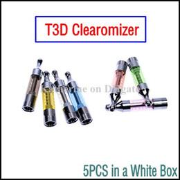 Torsion ii en Ligne-Remplaçable à Double Bobine T3D Atomiseur Clearomizer Électronique E Cigarette T3D de Tank, 510 ego t Twist 2 la Vision II de la Batterie de Diverses Couleurs T3D
