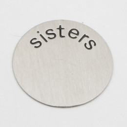 22.5MM sisters plates for 30mm round locket 316L Stainless steel Silver plates for 30mm round locket(only plate)