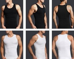 Wholesale New men compression tights T shirt men slimming body shaper extended tee shirt vest fitness clothing Hot sale