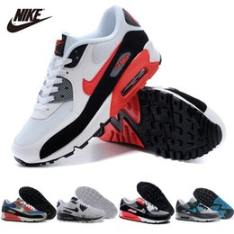 Discount Shoes Run Air Max Nike Air Max 90 Shoes Original Men Women Running Shoes Male Lady Airmax 90 Hommes Femmes Chaussures Max90 Trainers Sport Shoes Size36-45