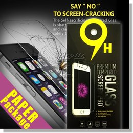 Wholesale For Iphone s s plus Samsung Galaxy on S7 S6 Tempered glass Screen Protector Anti fingerprint for Iphone note5 LG G5 Paper Package
