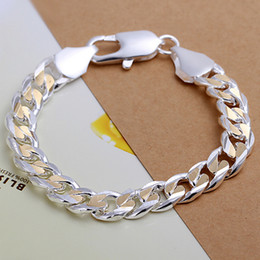 Hot sale 925 silver Dichroic sideways shrimp buckle bracelet DFMCH113, brand new fashion 925 sterling silver plated Chain link bracelets