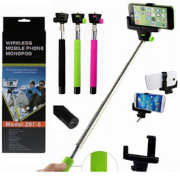 Selfie Sticks Bluetooth Selfie Monopod Bluetooth Selfie Monopods Selfie Stick Bluetooth Remote Shutter & Clip Z07-5 For iPhone Samsung