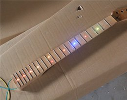 Semi-finished Guitar Neck with Lights on Fretboard and Maple Neck and Can be Customized as Request