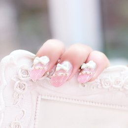 Wholesale Cherry blossom powder product false nails The bride nail
