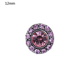 Wholesale NSB6056 Hot Sale Snap Buttons Jewelry Colors mm Buttons Fashion DIY Charms Antique Crystal Unique Spark Design Metal Buttons