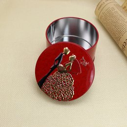 Wholesale Wedding favor boxes brand new design tin bride groom favour boxes three colors mixed batch