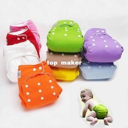 Wholesale 5pcs Washable Diapers pants with diaper Size Adjustable Reusable Baby Infant Nappy Cloth Diapers Colors Soft Covers for years baby