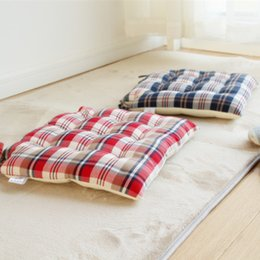Wholesale Left ear cotton by hand positioning cushion tatami floor bay window mat Japanese style dining chair cushion literary small fresh