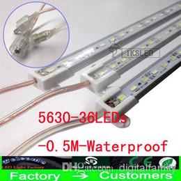6X dur LED bande imperméable à l'eau étanche IP68 5630 SMD cool chaud blanc barre rigide 36 LEDs 0,5 mètres d'éclairage bandes avec