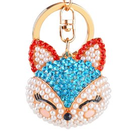 Wholesale Korea Hot lovely full diamond head Ali car key ring keychain Ms small gifts gift manufacturers