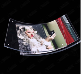 """8.5x11"""" Curved Clear Lucite Certificate Framing with Magnetic Transparent PMMA Photo Frames Good for Display Your Pictures"""