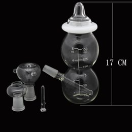Wholesale Glass Water Pipes Mini Baby Bottle Glass Bongs Joint mm Ash Catcher Bubbler Pipes Glass Oil Rigs with Dome Nail Bowl h0042