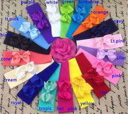 15% off high quality 5*17cm Stretchy nylon headband with 3inch ribbon bows,Nylon baby Headband,girls bow headband,baby headbands,18pcs