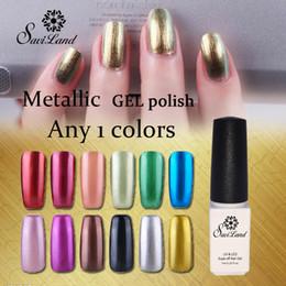 Wholesale-1PCS Hot Metallic Mirror Effect Gel nail polish soak off UV gel Metal gold Color Nail Art Top Manicure Tools choose 1