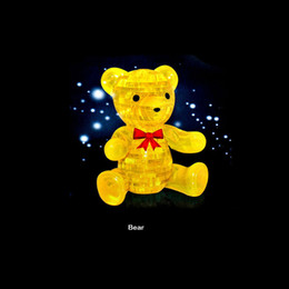 3D Crystal Puzzle Jigsaw Bear Model Learning Education Game