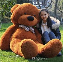 Wholesale TEDDY BEAR Stuffed Toys Giant Jumbo Size cm Birthday Christmas Gift Large Size m Big Teddy Bear Plush Toy Right Angle Measurement