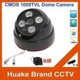 Cubierta matriz CCD 1000TVL 960H HD CMOS LED CCTV Gran Angular Dome Seguridad Video Vigilancia Sistema de cámara IR CUT Día visión nocturna desde sistema de seguridad de la bóveda del ccd fabricantes