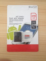 Wholesale 256GB UHS I Micro SD Memory Card Free SD Adapter Retail Blister Package microSD SDHC G Go Card for Android Tablet PC Smart Phones