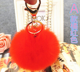 Wholesale-Lovely fur ball bag accessories Keys Hangings Accessories Fuzzy Ball keychain