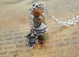 Wholesale 12pcs Geppetto s Magic glass Bottle Necklace and Cuckoo Clock Charm Pinocchio charm necklace