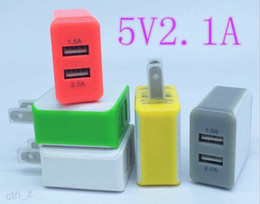 Real 2.1A Dual USB US plug 2100mAh Universal Travel business wall charger Power Adapter For iphone 6 6s 7 samsung