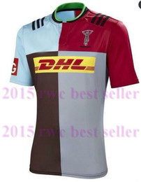 Wholesale Top thai quality Harlequins Rugby Jersey Harlequins home Rugby jersey Shirts from S XXL